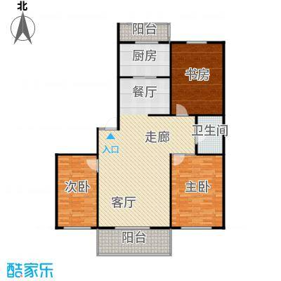 龙腾金荷苑91.00㎡房型户型