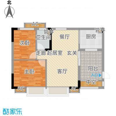 华南碧桂园71.10㎡十年华南组团T6型8号楼4、8、12、16层03户型