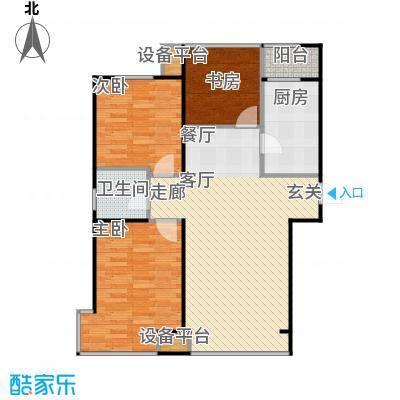 香域蓝山91.00㎡房型户型