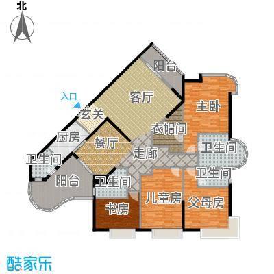 华标涛景湾209.80㎡B栋05单元4房2厅户型