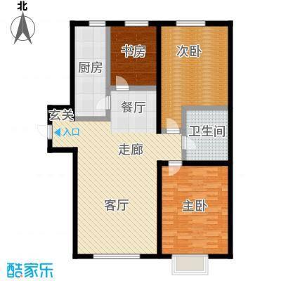 幻景家园106.06㎡1号楼A2-3户型