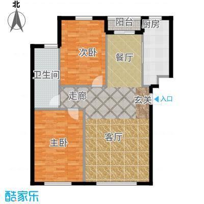 新华壹品80.00㎡房型户型