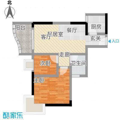 雅仕荔景苑50.00㎡户型