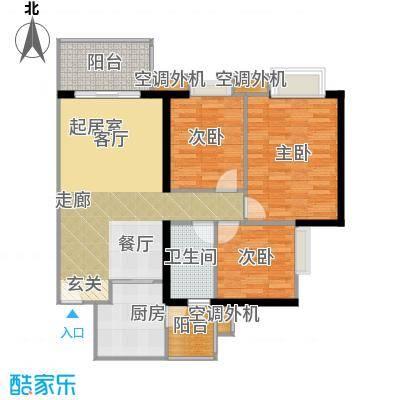 光大榕誉光大花园水榕苑90.96㎡F5栋18-22层05单元户型