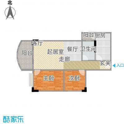 广州白天鹅花园74.97㎡户型