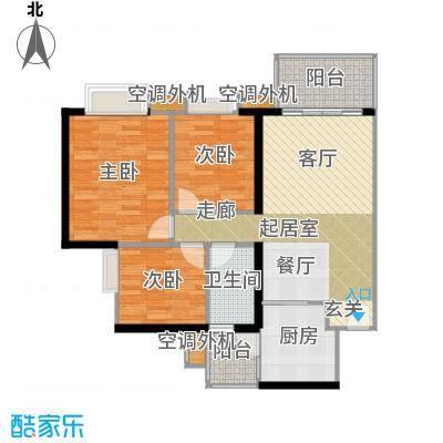 光大榕誉光大花园水榕苑90.96㎡F5栋18-22层04单元户型