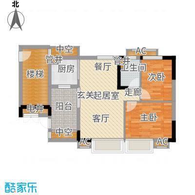 华南碧桂园71.10㎡十年华南组团T6型10号楼4、8、12、16层十年华南组团T6型10号楼4、8、12、16层06户型