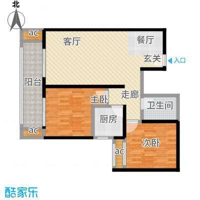 江枫雅居99.19㎡A3户型