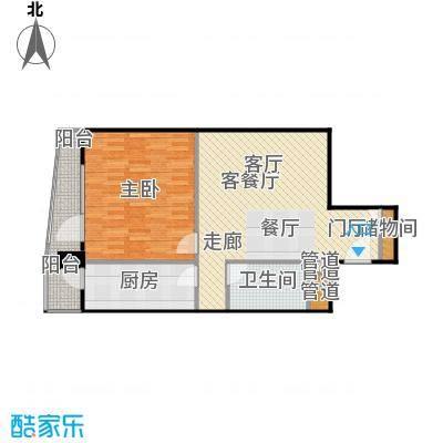 新纪元公寓77.80㎡户型