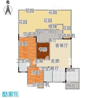 福江・名城名城94.93㎡一期1号楼2单元1层2号房3室户型