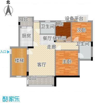 新华苑102.00㎡户型