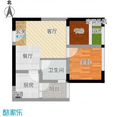 东原锦悦情趣小户客厅+餐厅+厨房+卫生间+阳台+花池户型