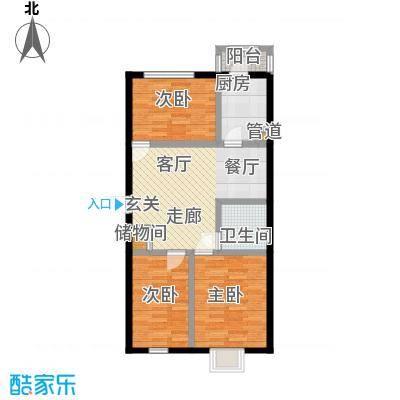 福隆雅居户型3室1厅1卫1厨