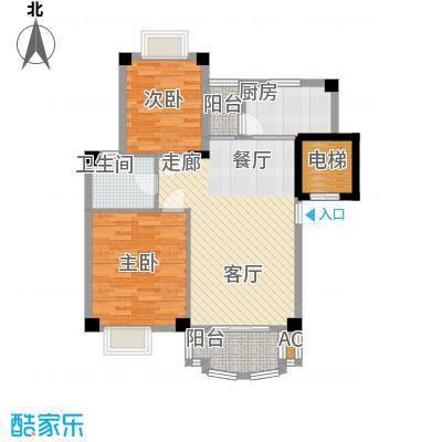 明发滨江新城82.00㎡8608-8624m2户型