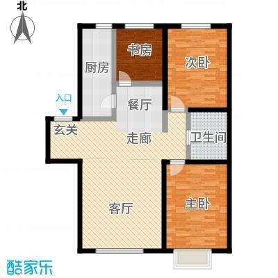 幻景家园106.44㎡3号楼A-3户型