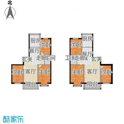 鑫丰又一城117.00㎡房型户型