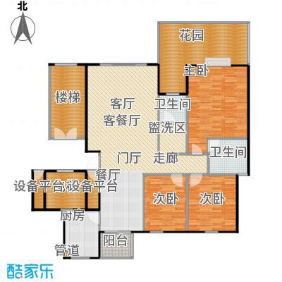 泽瑞・汇景苑户型3室1厅2卫1厨