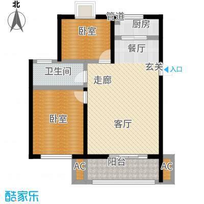 华侨绿洲80.10㎡8158m2户型