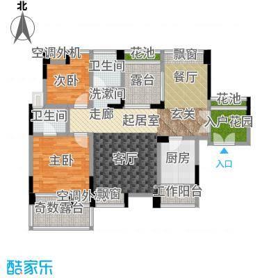 雷圳碧榕湾海景花园87.00㎡3栋2单元B1户型