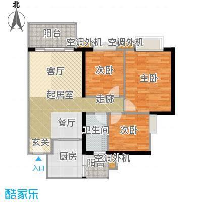 光大榕誉光大花园水榕苑90.96㎡F5栋3-17、23-33层05单元户型