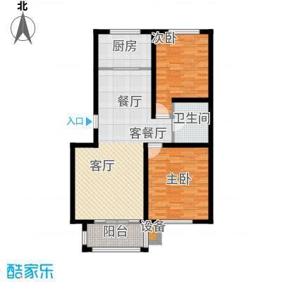 外海蝶泉山庄户型2室1厅1卫1厨