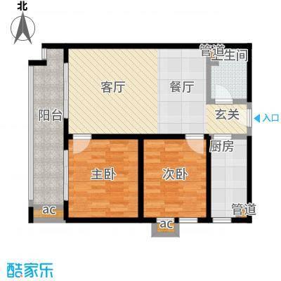 江枫雅居89.37㎡A2户型