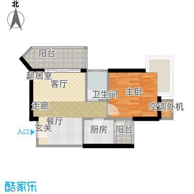 庆业巴蜀城B区26.26㎡房型户型