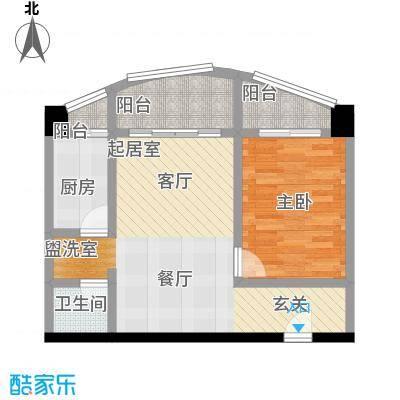天信双骄52.71㎡房型户型
