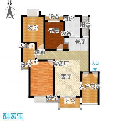 天元吉第城户型3室1厅1卫1厨