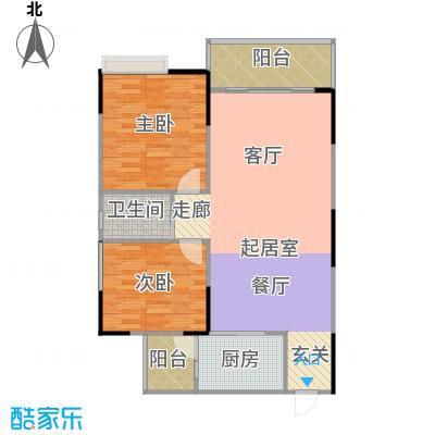 港韵新苑77.60㎡房型户型