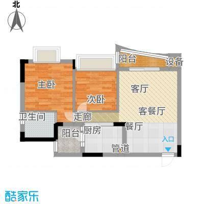 尚阳康城67.10㎡房型户型