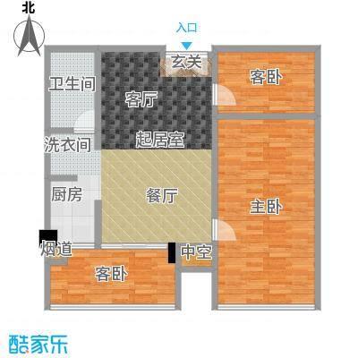 颐和雅轩89.70㎡北塔4-10层02-0南向户型