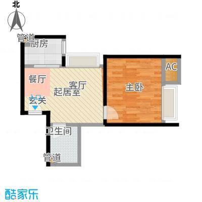 江枫雅居64.50㎡B户型