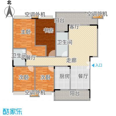 福江・名城名城133.86㎡4号楼2单元3层1号房4室户型