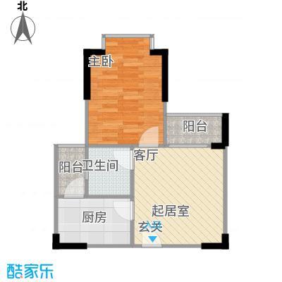 大川建博中心户型1室1卫1厨