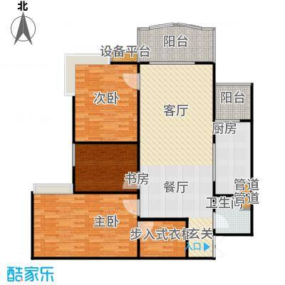 兰天龙湖苑户型3室1厅1卫1厨