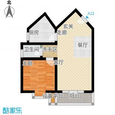 联芳旭庆苑户型1室1厅1卫1厨