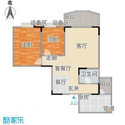 龙德景苑户型2室1厅1卫1厨