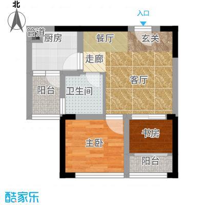 东原锦悦卧室+客厅+餐厅+厨房+卫生间+阳台户型