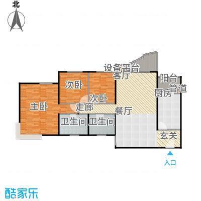 佳禾钰茂豪俊阁153.49㎡房型户型