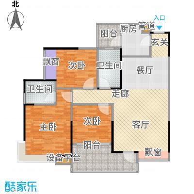 巨成龙湾户型3室1厅2卫1厨