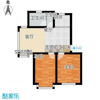 金沙水木城典户型2室1厅2卫1厨