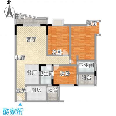 龙汇园户型3室1厅2卫1厨