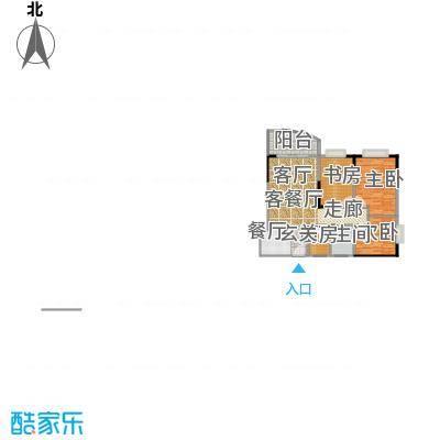 天伦海苑76.79㎡房型户型