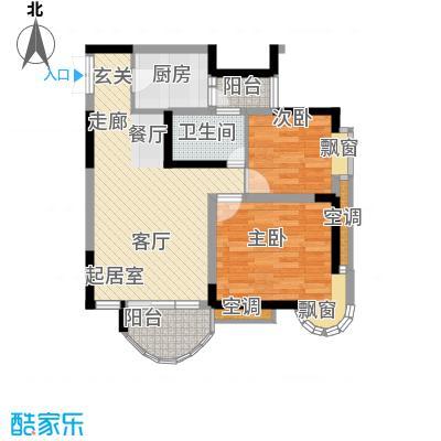 天工太阳岛68.25㎡房型户型