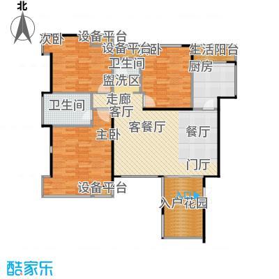 融科海阔天空Ⅱ期海阔天空融科海阔天空2期111.48㎡A/C/E栋1号房户型