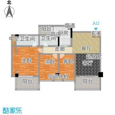 颐和雅轩125.56㎡北塔4-10层04-0南向户型