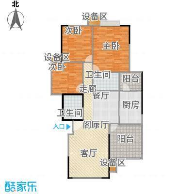 竹韵山庄户型3室1厅2卫1厨