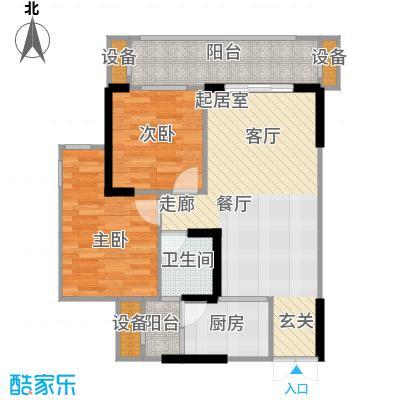 华宇・春江花月春江花月60.06㎡11号楼1号房单卫户型