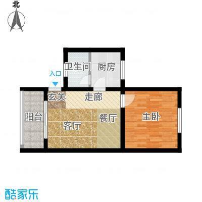 金碧园户型1室1厅1卫1厨